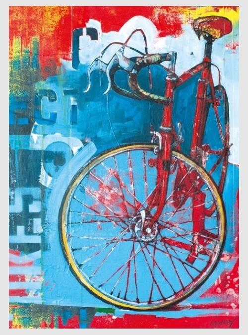 29600-Bike Art: Κόκκινο Ποδήλατο, 1000 τεμ.