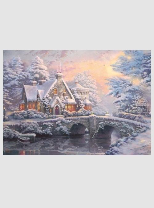 59468-Thomas Kinkade: Χειμώνας στην Έπαυλη, 1000 τεμ.