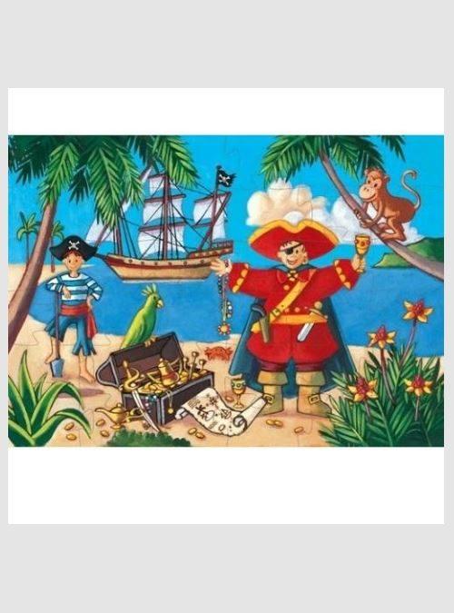Ο Πειρατής και ο θησαυρός, Σχηματικό Παζλ