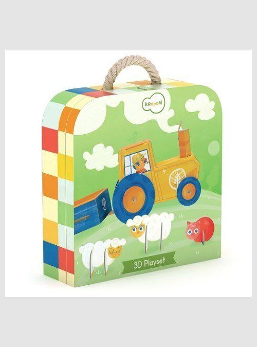 220129 Farm Life, 3D puzzle, box