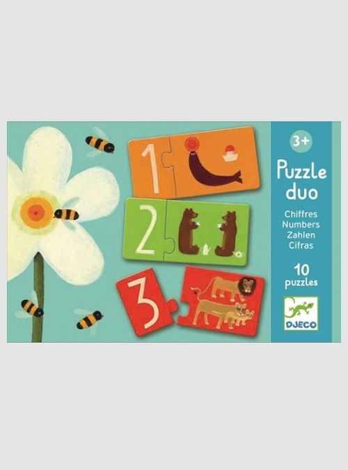 Αριθμοί, Παιδικό Παζλ, κουτί