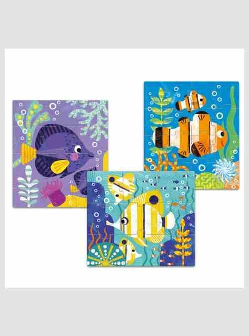 Ψαράκια, 3 Παιδικά Παζλ