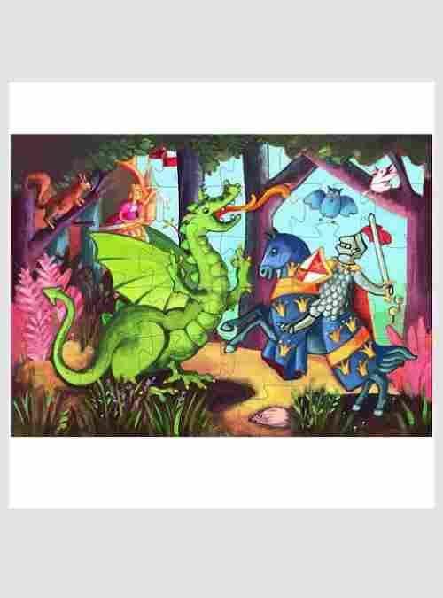 Ο Ιππότης και ο Δράκος, Σχηματικό Παζλ