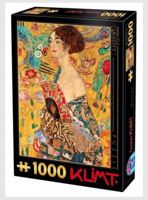 66923KL03-gustav-klimt-lady-with-fan-1000pcs