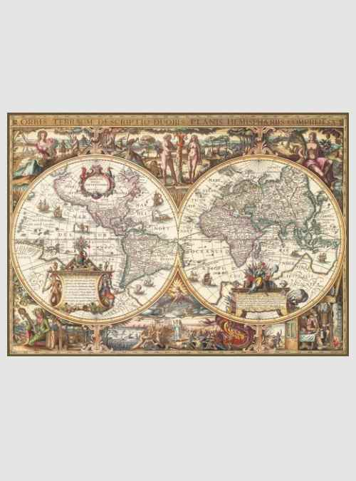 19004-antique-world-map-wood-finish-1000pcs