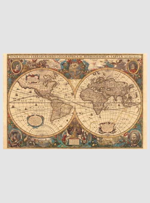 17411-antique-world-map-5000pcs