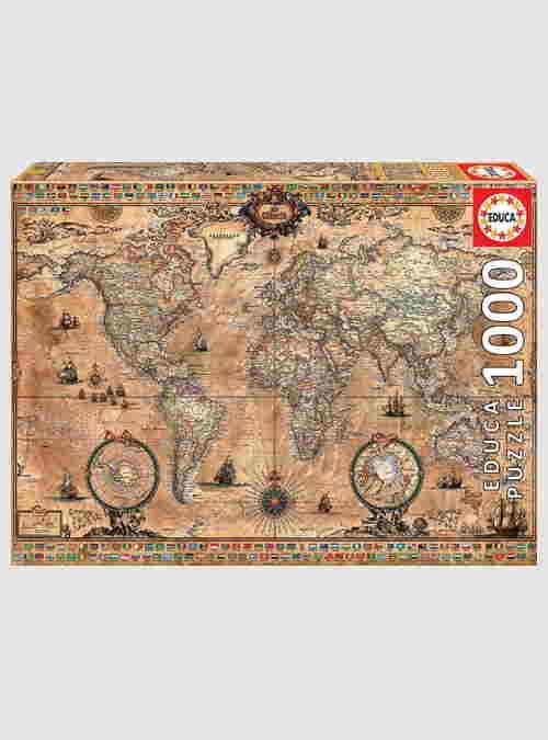 15159-antique-world-map-1000pcs