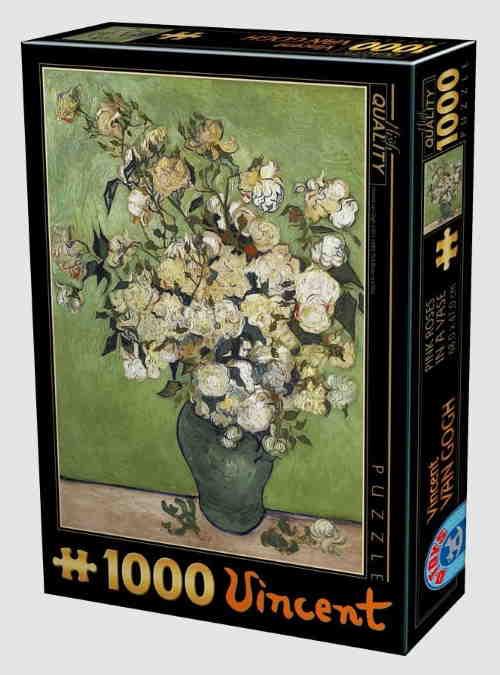 66916VG12-van-gogh-flowers-pink-roses-in-a-vase-1000pcs