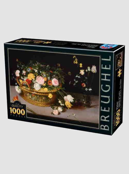 73778BR04-pieter-brueghel-elder-flowers-in-a-basket-and-a-vase-1000pcs