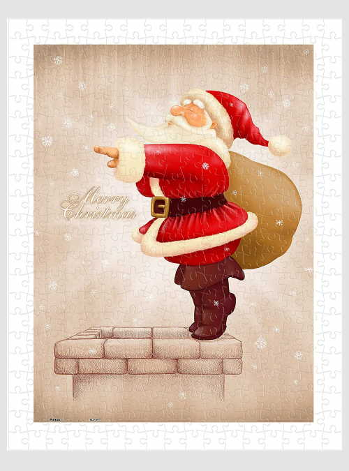H1608-Plastic-Puzzle-Santa-Claus-Dive-in-The-Fireplace-300pcs