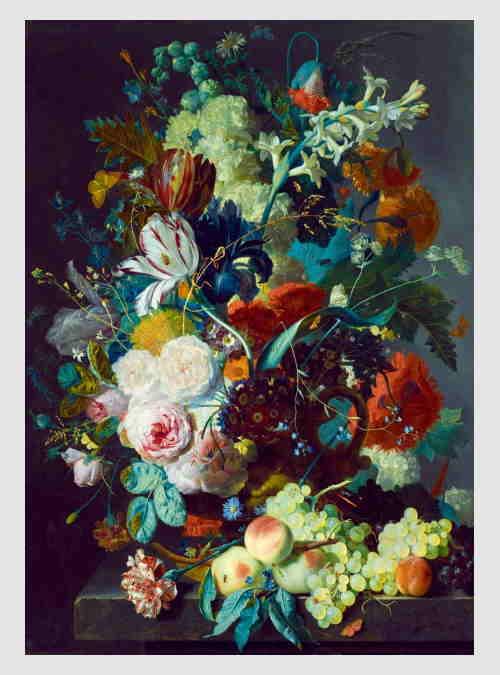60072-Jan-Van-Huysum-Still-Life-with-Flowers-and-Fruit-1000pcs
