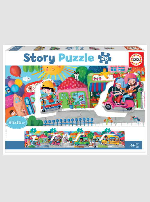 18901-story-puzzle-vehicles-in-the-city-26pcs=box